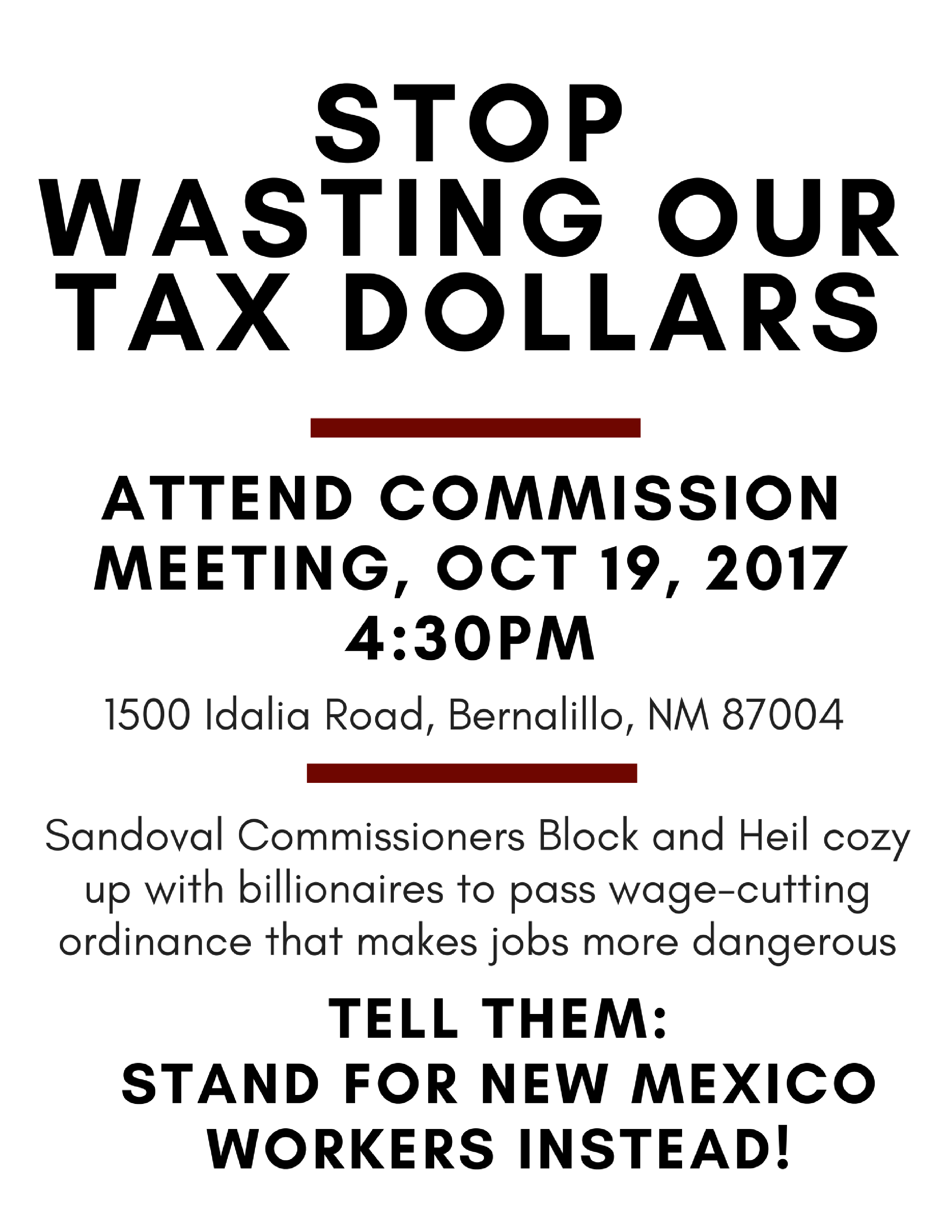 New mexico sandoval county counselor - Be There 10 19 Sandoval County Commissioners On Billionaire Funded Quest To Make Your Job Worse New Mexico Federation Of Labor Afl Cio